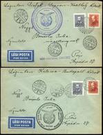 """89737 1937. 6db Alkalmi Légi Küldemény , """"Csillagtúra"""" Különféle útvonalakkal, Bélyegzésekkel - Used Stamps"""