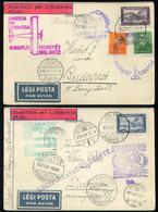 89736 1932. 5db Alkalmi Légi Küldemény , Stella Di Savola , Különféle útvonalakkal, Bérmentesítésekkel , Szép Tétel! - Hungary