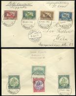 89743 BUDAPEST 1924.10.07. Légi Nyomtatvány  Madonna-Ikarusz-Parlament Bérmentesítéssel Bécsbe Küldve - Hungary