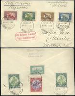 89742 BUDAPEST 1924.10.07. Légi Nyomtatvány  Madonna-Ikarusz-Parlament Bérmentesítéssel Münchenbe  Küldve - Hungary