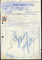 89754 BUDAPEST Edinger Arthur és Társa ,Világítás, Régi Fejléces, Céges  1909. - Old Paper