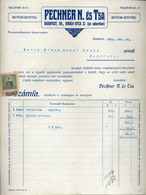 89753 BUDAPEST Pechnerés Társa  ,Butor Kivitel, Régi Fejléces, Céges  1911. - Old Paper