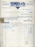 89753 BUDAPEST Pechnerés Társa  ,Butor Kivitel, Régi Fejléces, Céges  1911. - Unclassified