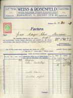 89752 BUDAPEST Weiss & Rosenfeld ,Butor , Régi Fejléces, Céges  1917. - Old Paper