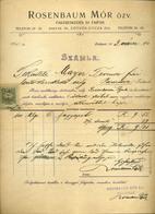 89751 BUDAPEST Rosenbaum Mór Fakereskedés , Régi Fejléces, Céges  1903. - Unclassified
