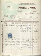 89750 BUDAPEST Porgesz és Wohl Kalap , Régi Fejléces, Céges  1917. - Old Paper
