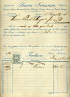 89749 BUDAPEST Simon Neumann  Kalap , Régi Fejléces, Céges  1898. - Unclassified