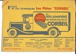 """BUVARD - Les Pâtes """"CORBEIL"""" - Blotters"""