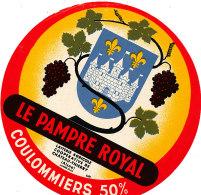 J C O 352  / ETIQUETTE DE FROMAGE - COULOMMIERS   LE PAMPRE ROYAL  LAITERIE DE CHATEAU THIERRY (AISNE) - Fromage