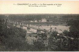 CPA N°18740 - LOT DE 8 CARTES DE CHAUMONT SUR LOIRE - LE CHATEAU, LE PONT SUSPENDU ET LA LOIRE - Frankreich