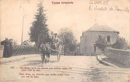 Guéret        23      Type Creusois . Le Chalet Des Familles  Et Attelage Sur Le Pont     (voir Scan) - Guéret