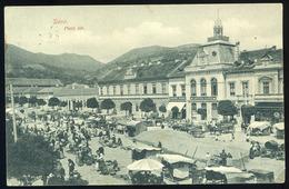 90419 DÉVA 1914. Piac Tér, üzletek, Régi Képeslap - Hungary