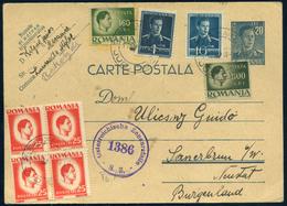 ROMANIA 1947. Inflation Stationery Card To Austria - 1918-1948 Ferdinand, Charles II & Michael