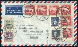 90505 KÍNA 1949. Légi Levél , Shanghai, Németországba Küldve  /  CHINA 1949 Airmail Letter Shanghai To Germany - China