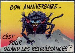 """BANDES DESSINEES - DESSINATEUR """" FRANQUIN """" - BON ANNIVERSAIRE - LES MONSTRES N°26 - Bandes Dessinées"""