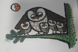 Christmas Owls Hiboux - Kerstmis
