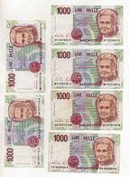 Italia - Lotto Di 6 Banconote Da Lire 1000 Maria Montessori - Decreti Vari - Vedi Foto - (FDC8118) - [ 2] 1946-… : République