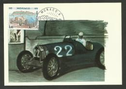 MONACO - Carte Maximum  50ème Anniversaire Grand Prix Automobile / 1929 - 1979 - Automobile