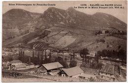 Salins Les Bains : La Gare Et Le Mont Poupet (Editeur C. Lardier, Besançon, CLB N°1103) - France