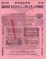 87- LIMOGES -RARE GRAND BUVARD GRAND BAZAR DE LA VILLE DE PARIS-6 RUE PORTE TOURNY-REPUBLIQUE-TABAC-RIZ PARISIEN-GOUDRON - Tabac & Cigarettes