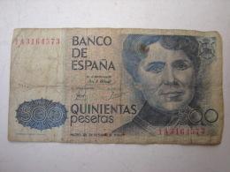 MW. 86. Cinq Cent Pesetas. Rosalia De Castro 1979 - [ 4] 1975-… : Juan Carlos I