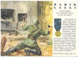 Cpa..italie Médaille De La Guerre Accordée A Marco Lalli . 21eme Régiment D'infanterie De Pola...1940... - Guerre 1939-45