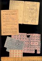 Carte De Vêtements Et Textile Mairie De Tarare Rhône 1943 + Tabac Bon De Solidarité &timbres Viande 1947 Pommes De Terre - Historical Documents