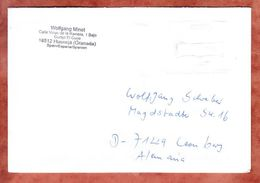 Brief, Francostempel, Hueneja Nach Leonberg 2012 (46324) - 1931-Heute: 2. Rep. - ... Juan Carlos I