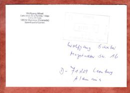 Brief, Francostempel, Hueneja Nach Leonberg 2012 (46326) - 1931-Heute: 2. Rep. - ... Juan Carlos I
