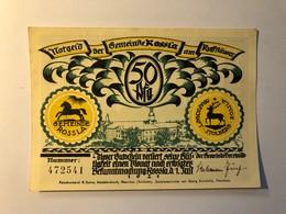 Allemagne Notgeld Kossla 50 Pfennig - [ 3] 1918-1933 : République De Weimar