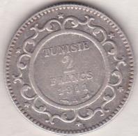 PROTECTORAT FRANCAIS. 2 FRANCS 1911 (AH 1329) En Argent - Tunisia