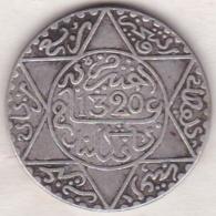 Maroc . 2 1/2 Dirhams (1/4 Rial) AH 1320 Londres . Abdül Aziz I , En Argent - Maroc