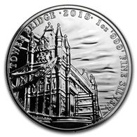 2018 GB 1 Ounce Silver Sights Of Britain (Tower Bridge) - Great Britain