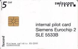 Internal Pilot Card 5CHF - Switzerland