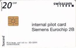 Internal Pilot Card 20CHF - Switzerland