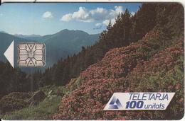 ANDORRA(chip) - Seasons/Spring, Tirage 20000, 06/91, Used - Andorra