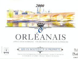 1 Etiquette Ancienne De VIN - ORLEANAIS 2000 - Rouges