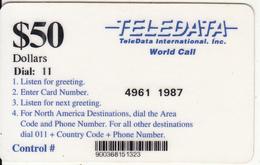 BOSNIA - Teledata International Remote Memory Card $50(used By U.N. Personnei In Bosnia), Used - Bosnia