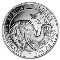 2018 Somalia 1 Ounce Silver Elephant BU. - Somalie