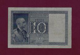 ITALY 10 LIRE Lira 1935 - 1938 P-25b XF - [ 1] …-1946: Königreich