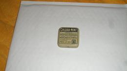 PETITE BOITE METALLIQUE ANCIENNE PUBLICITAIRE. / CHLORA - MINT. / G. HABERT PHARMACIEN PARIS. - Scatole