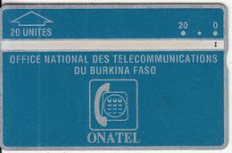 BURKINA FASO(L&G) - Onatel Logo(blue), First Issue 20 Units, CN : 105H, Tirage 4000, Used - Burkina Faso