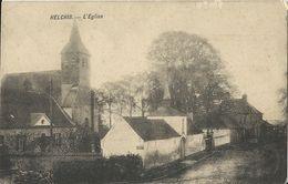 Helchin.   -    L'Eglise   -    Ecaussinnes   1911  Naar  Ronquieres - Spiere-Helkijn