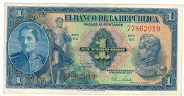 Colombia 1 Peso 1954, Crisp XF. - Colombia