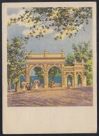 323 RUSSIA 1957 ENTIER POSTCARD SH 09055 Used ODESSA UKRAINE Lanzheron ENTRANCE ARC ARCH Overprint Surcharge Mailed - 1950-59