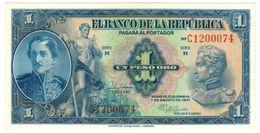Colombia 1 Peso 1947, UNC. Rare. - Colombie