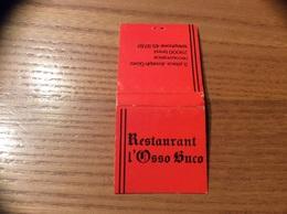 Pochette D'allumettes SEITA «Restaurant L'Osso Buco BREST (29) » (plan) - Boites D'allumettes