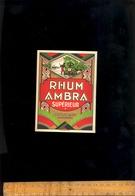 Etiquette De Rhum AMBRA SUPERIEUR DOLIN & Cie De CHAMBERY Savoie  Vers 1922/1930 - Rhum