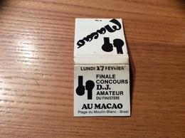 Pochette D'allumettes SEITA «Macao DISCOTHÈQUE BREST (29) » - Boites D'allumettes