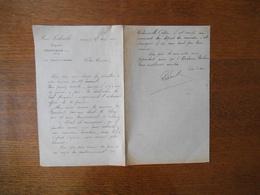 FESTIEUX AISNE PAUL LEDOUBLE EXPERT COURRIER DU 21 AVRIL 1902 - Manuscripts
